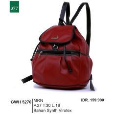 Garsel Fashion Tas Ransel / Tas Gendong Wanita GWH 5270 - MRN Bahan Synth Virotex
