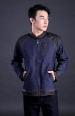 Jual Garsel Fdt 005 Jaket Jeans Pria Denim Synthetic Bagus Blue Black Online