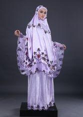 Garsel GMB 5620/3011 Mukena Motif Wanita - Semi Sutra - Modis - Purple Comb