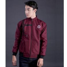 Diskon Garsel Jaket Bomber Sekolah Kuliah Kerja Motor Biker Maroon Best Seller Jaket Bomber Anti Air Garsel Di Jawa Barat