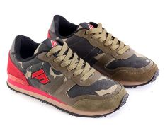 Garsel L037 Sepatu Lari  Pria - Kulit Suede-Synth - Keren (Hijau Kom  )