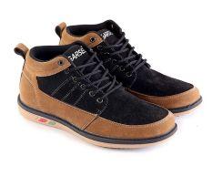 Garsel GUD 1040 Sepatu Sneaker  Pria - Synth - Keren (Hitam-Coklat)
