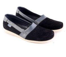 Beli Garsel L097 Sepatu Casual Slip On Pria Kulit Suede Bagus Hitam Lengkap