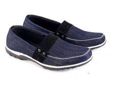 Beli Garsel L098 Sepatu Casual Slip On Pria Synth Bagus Hitam Cicilan