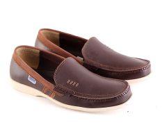 Garsel L115 Sepatu Kerja / Loafer Pria - Kulit Super - Keren (Coklat Tua)