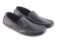 Garsel L116 Sepatu Kerja / Loafer Pria - Kulit Super - Bagus (Hitam)