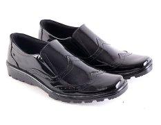 Toko Garsel L139 Sepatu Kerja Pantofel Pria Kulit Premium Keren Hitam Online Di Indonesia