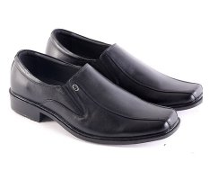 Jual Garsel L144 Sepatu Kerja Pantofel Pria Kulit Premium Bagus Hitam