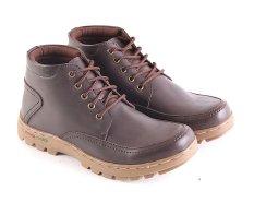 Toko Garsel L149 Sepatu Koboy Boots Pria Synth Leathert Keren Coklat Tua Lengkap Indonesia
