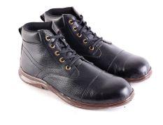 Garsel L165 Sepatu Safety Boots Pria - Kulit Super - Bagus (Hitam)