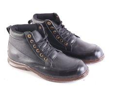 Garsel L167 Sepatu Safety Boots Pria - Kulit Super - Bagus (Hitam)