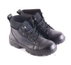 Garsel L168 Sepatu Safety Boots Pria - Kulit Super - Bagus (Hitam)