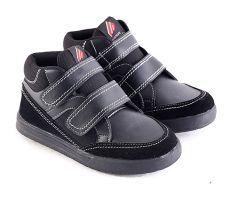 Jual Garsel L240 Sepatu Sneaker Sekolah Anak Laki Laki Synth Bagus Hitam Baru