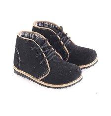 Jual Garsel L242 Sepatu Boots Balita Laki Laki Synth Bagus Hitam Garsel Murah