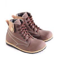 Garsel L244 Sepatu Boots Balita Laki-Laki - Synth - Bagus (Coklat)