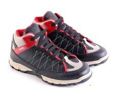 Harga Garsel L249 Sepatu Sneaker Anak Laki Laki Synth Keren Hitam Merah Seken