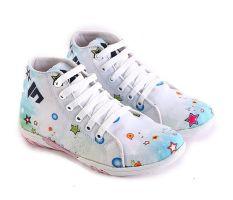 Spesifikasi Garsel L290 Sepatu Sneaker Anak Perempuan Synth Keren Putih Biru Yg Baik