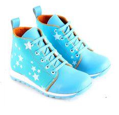 Garsel L294 Sepatu Boots Anak Perempuan - Synth - Keren (Biru)