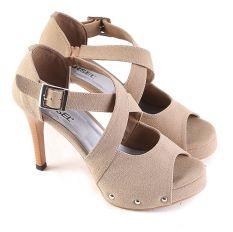 Tips Beli Garsel L303 Sepatu Heels Wanita Synth Keren Cream Yang Bagus