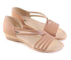 Jual Garsel L340 Sandal Flat Wanita Synth Keren Coklat Muda Di Jawa Barat