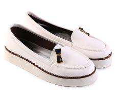 Jual Garsel L537 Sepatu Slip On Wanita Synth Bagus Putih Garsel