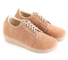 Garsel L591 Sepatu Sneaker Wanita Synth Bagus Coklat Garsel Diskon