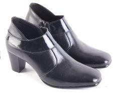 Garsel L607 Sepatu Formal/ Kerja Heels Wanita - Kulit Super - Bagus (Hitam)