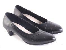Harga Garsel L609 Sepatu Formal Kerja Heels Wanita Kulit Super Bagus Hitam Fullset Murah