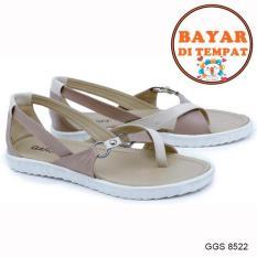 Garsel Sandal Flat Wanita Modis Dan Trendy GGS 8522 - Cream