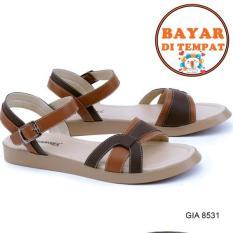 Harga Garsel Sandal Flat Wanita Modis Dan Trendy Gia 8531 Brown Lengkap