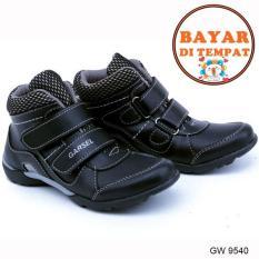 Review Garsel Sepatu Anak Laki Laki Keren Dan Modis Gw 9540 Black Jawa Barat