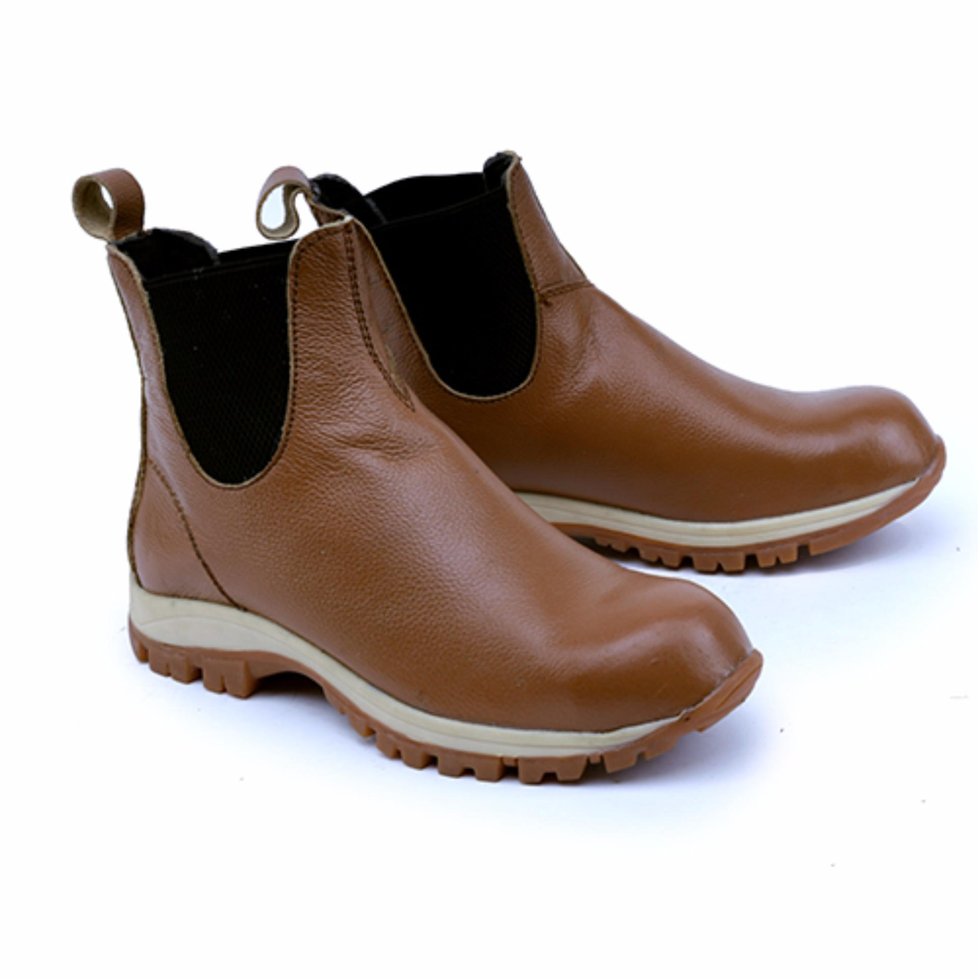 Garsel Sepatu Boots & Safety / Safety Shoes Pria GRN 2501 Bahan Premium Leather