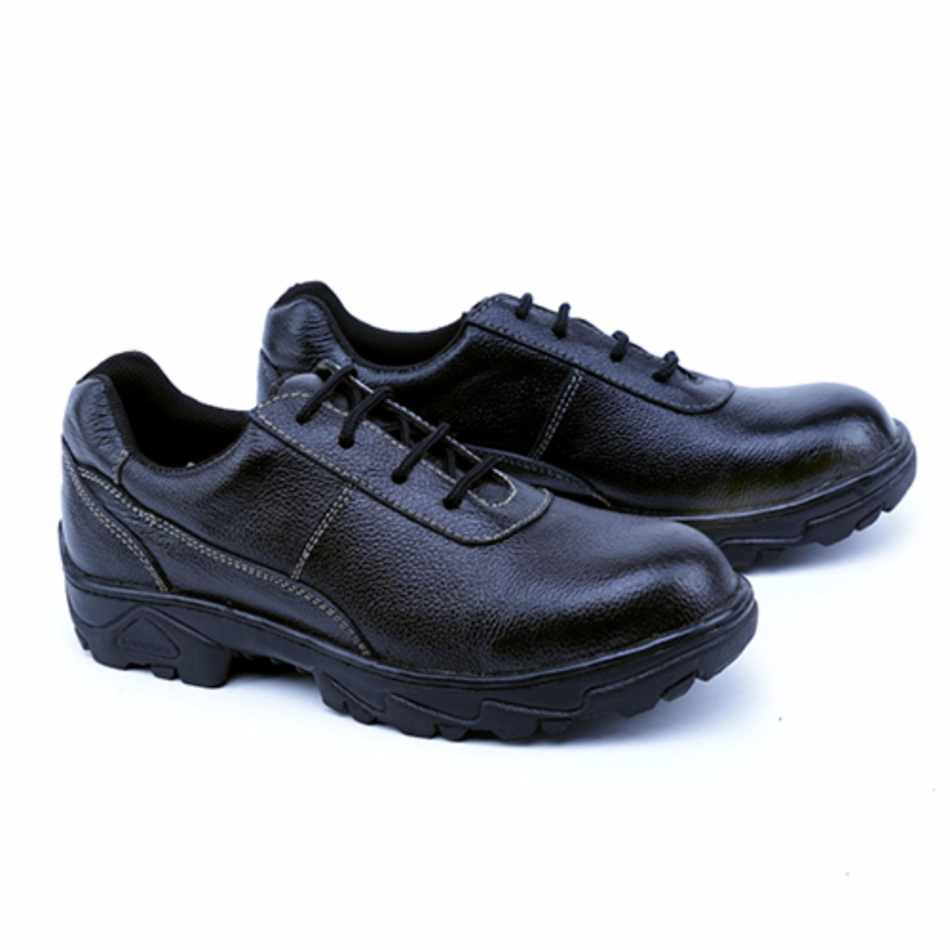 Garsel Sepatu Boots & Safety / Safety Shoes Pria GRN 2504 Bahan Premium Leather