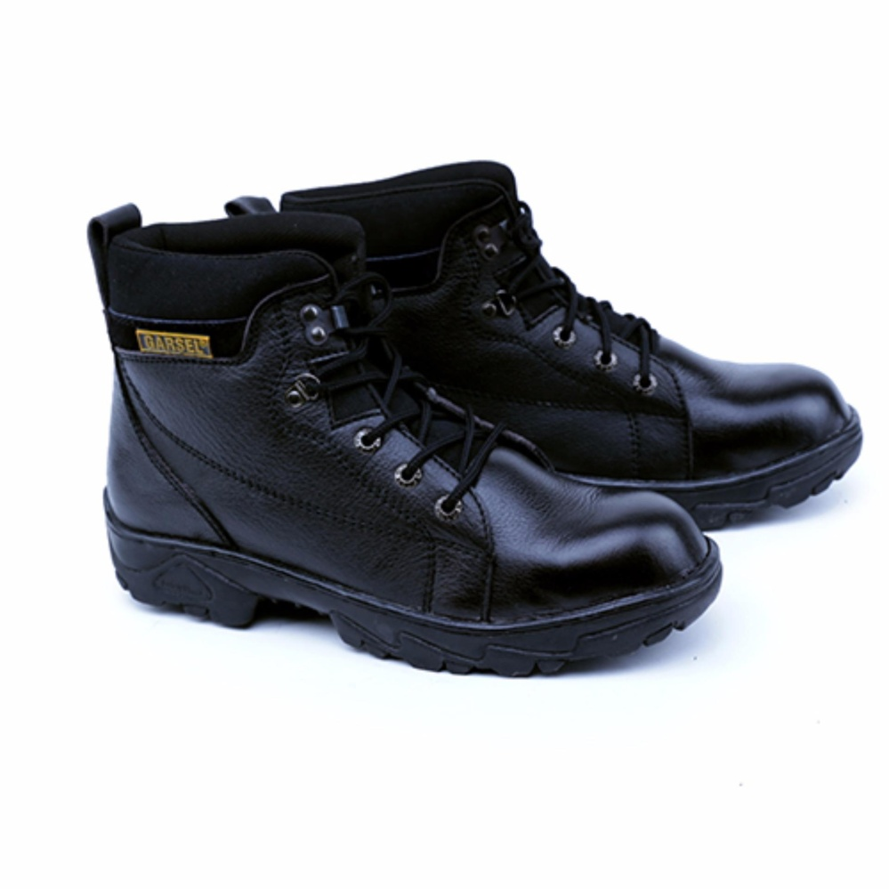 Garsel Sepatu Boots & Safety / Safety Shoes Pria GRN 2506 Bahan Premium Leather