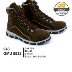 GARSEL Sepatu Boots Anak / High Boot Anak / Sepatu Anak GMUx9532 Dark Brown