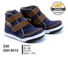 GARSEL Sepatu Boots Anak / Sepatu Casual / Sepatu Anak GIHx9515 Blue Brown