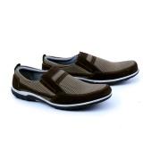 Harga Garsel Sepatu Casual Slip On Synth Sekolah Kuliah Kerja Formal Santai Distro Trendy Grf1610 Brown Best Seller Garsel Terbaik