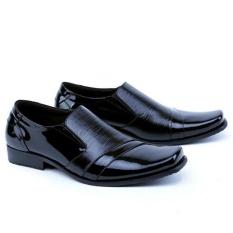 Harga Garsel Sepatu Formal Pantofel Kerja Kantor Pdh Pdl Kulit Asli Premium Elegant Gfa0007 Hitam Garsel Online