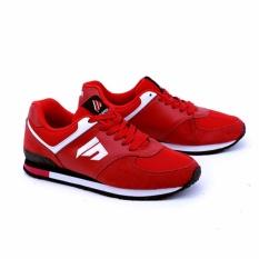 Harga Garsel Sepatu Olahraga Running Shoes Pria Tmi 1056 Bahan Suede Leather Synth Paling Murah