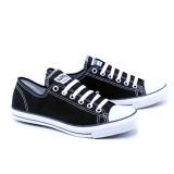 Jual Garsel Sepatu Sekolah Kuliah Kerja Casual Sneakers Trendy Gje1023 Size 34 44 Hitam Best Seller Sch**l Sneaker Shoes Garsel Ori