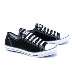 Garsel Sepatu Sekolah Kuliah Kerja Casual Sneakers Trendy GJE1023 Size 34-44 - Hitam - Best seller school sneaker shoes