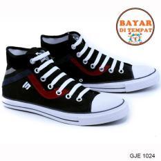 Kualitas Garsel Sepatu Sneakers Pria Keren Dan Modis Gje 1024 Black Garsel Shoes