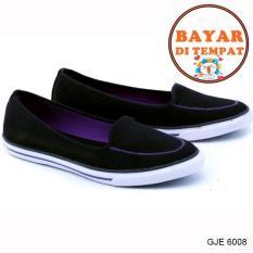 Jual Garsel Sepatu Sneakers Wanita Modis Dan Trendy Gje 6008 Black Online Jawa Barat