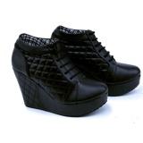 Jual Garsel Sepatu Wedges Cantik Trendy Full Black Gme4269 Hitam Garsel Original