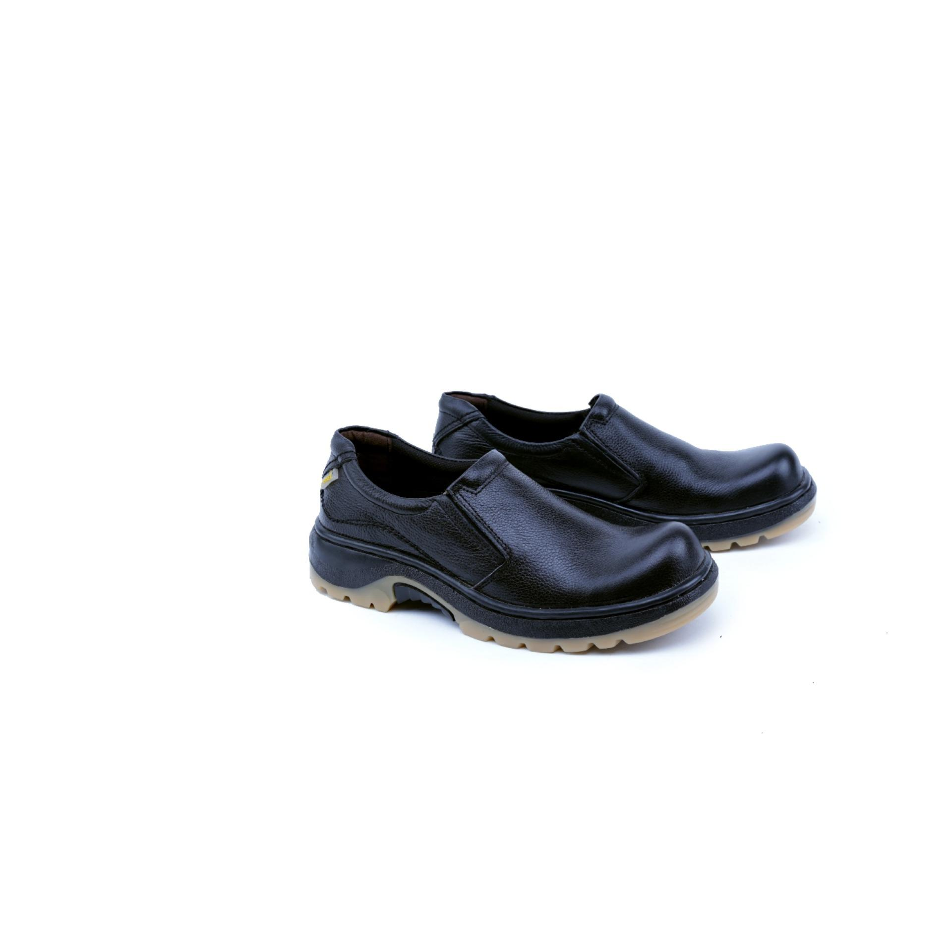 Garsel Shoes GHR 2500 Sepatu Safety Boot Pria-Leather-Tpr - -New Katalog Bagus Kuat(Hitam)