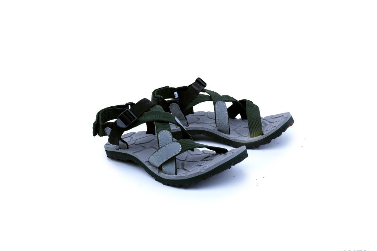 Garsel Shoes GSG 3009 Sandal Track / Gunung Pria-Webbing-Karet - -New Katalog Murah Keren(Hijau Kombinasi)