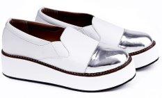 Garucci GOK 5104 Sepatu Casual Sneaker/ Kets Wanita - Synthetic - Gaya (Putih Kombinasi)
