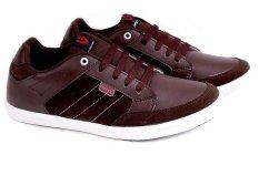 Spesifikasi Garucci Grg 1194 Sepatu Sneaker Pria Sintetis Suede Keren Dan Stylish Coklat Tua Terbaru