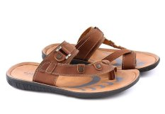 Garucci GSG 3085 Sandal Casual Pria - Sintetis - Stylish & Elegan (Tan)