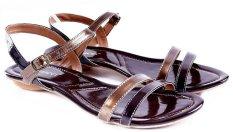 Harga Garucci Gtt 8092 Sandal Casual Wanita Sintetis Lak Stylish Coklat Kombinasi Terbaik